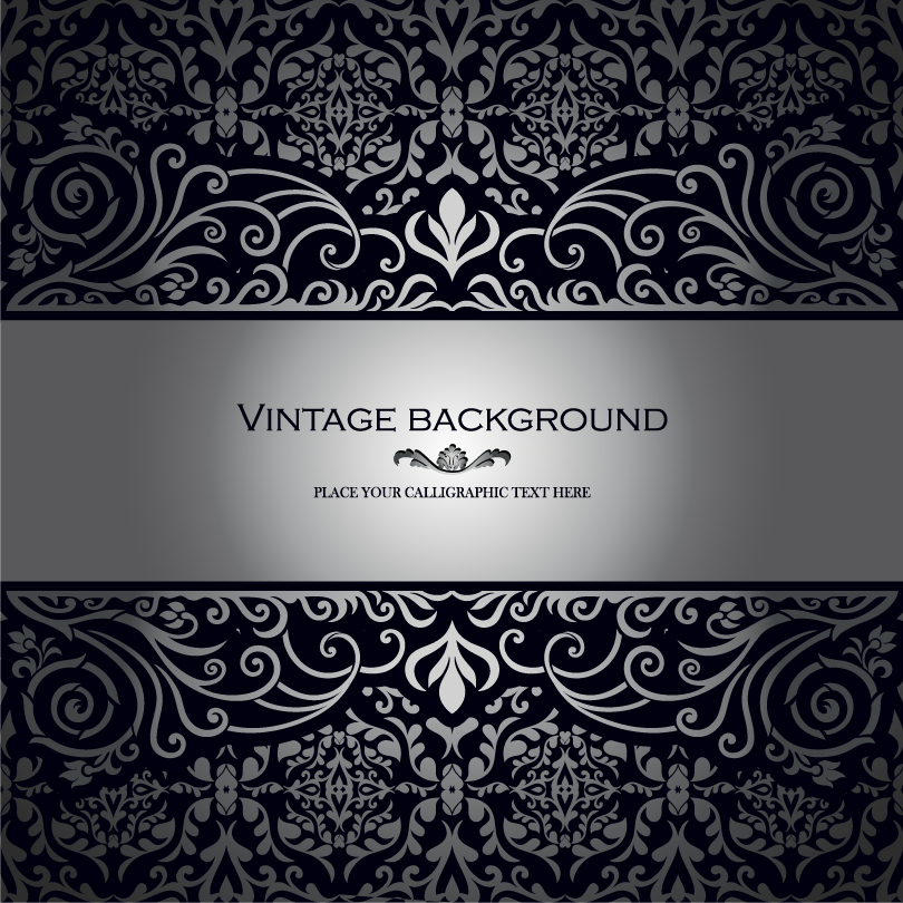 Black Vintage Background Vector