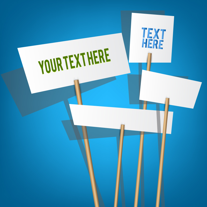 Blank Placards Template Vector
