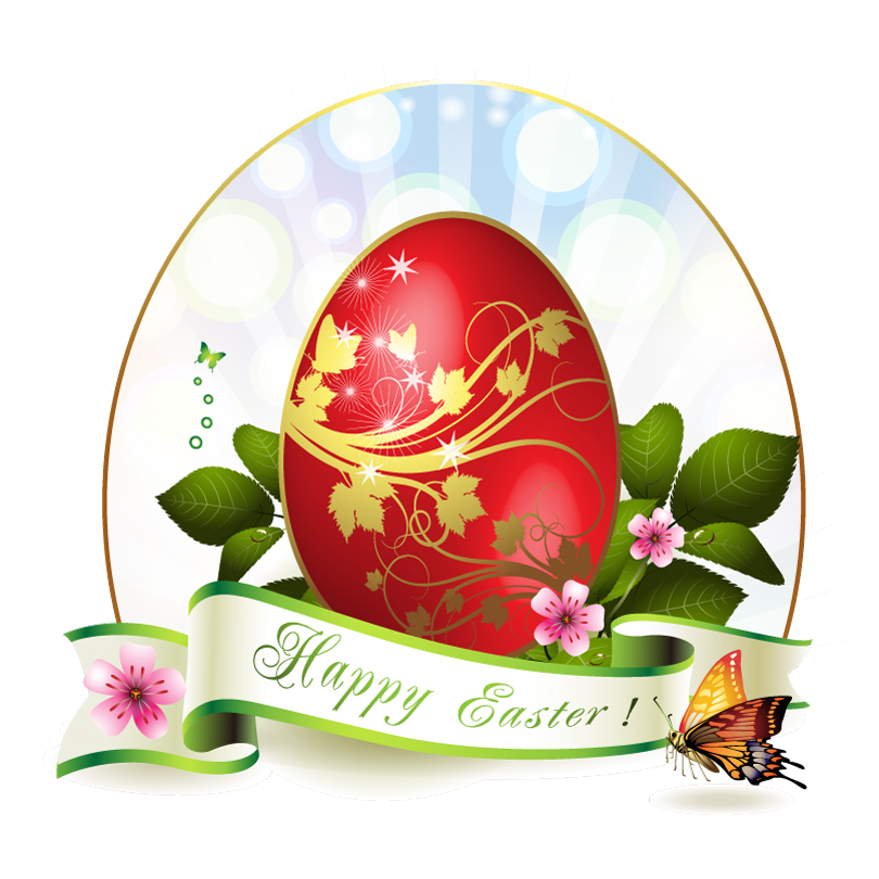 Butterfly Happy Easter Vector