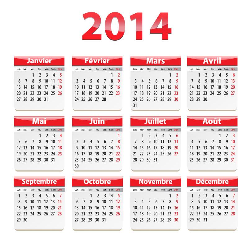 نتيجة العام الميلادي 2014 ، نتيجة التقويم الميلادي لعام 2014 ، calendar 2014