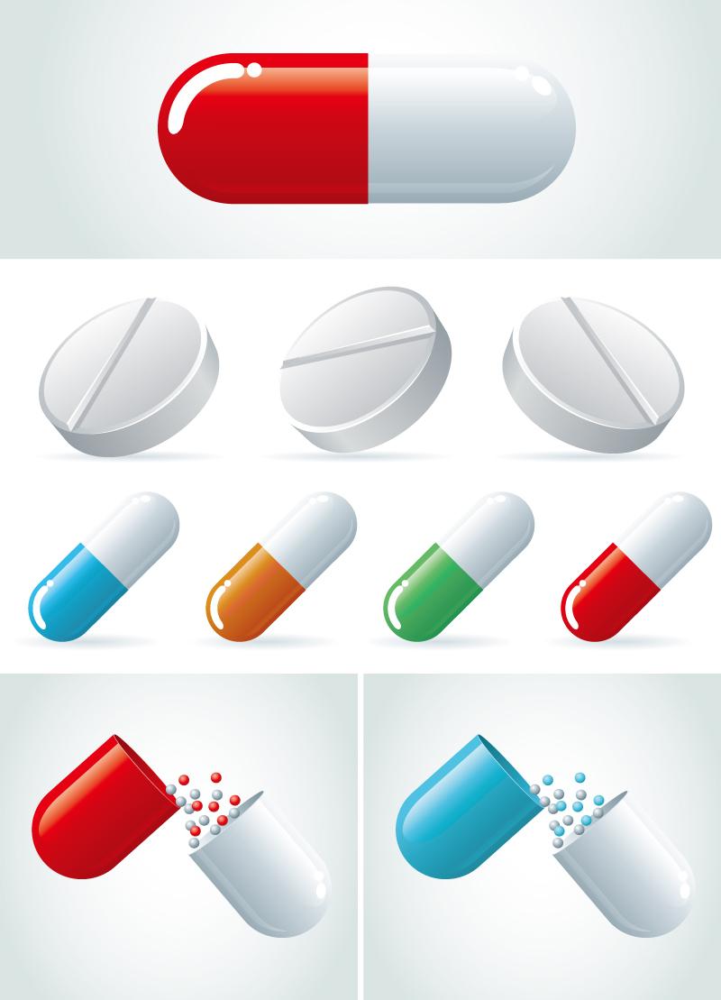 Capsule Pills Vector