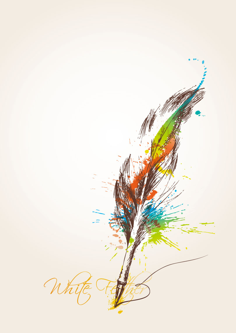 Colorful Feather Quill