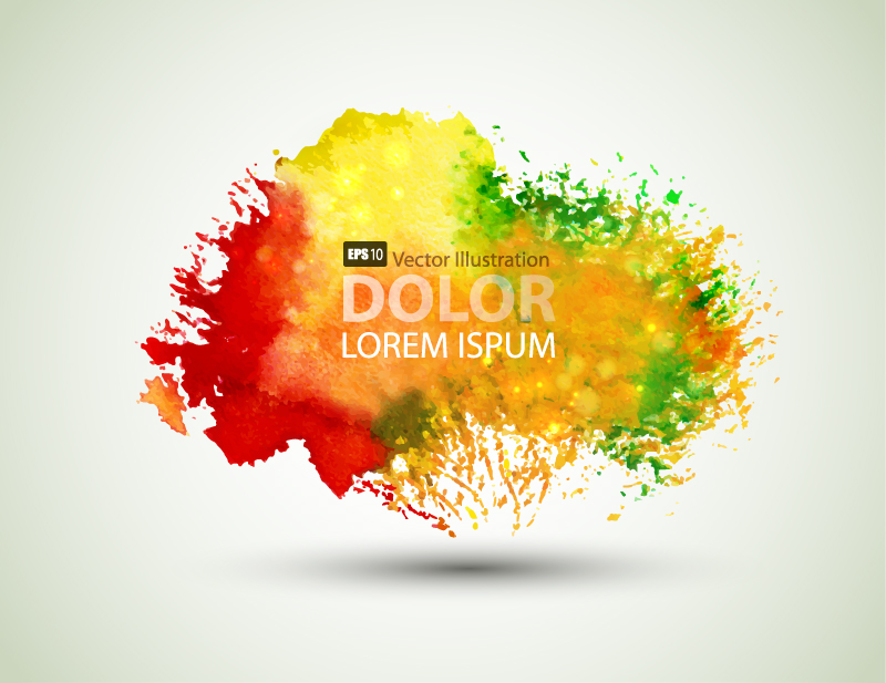 Colorful Ink Background Vector
