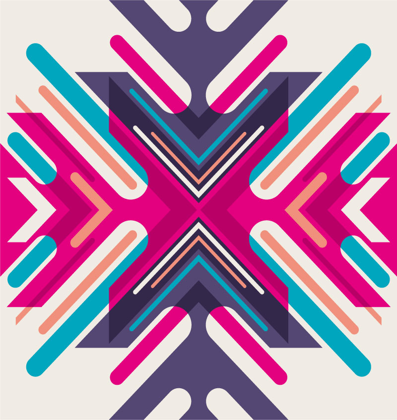 Colorful Symmetry Arrows Background Vector