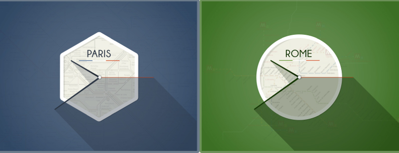 European Flat Clocks Duo PSD