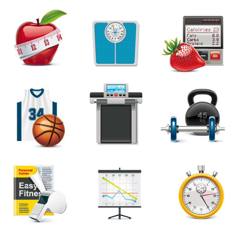 Fitness Equipment Icon Vector