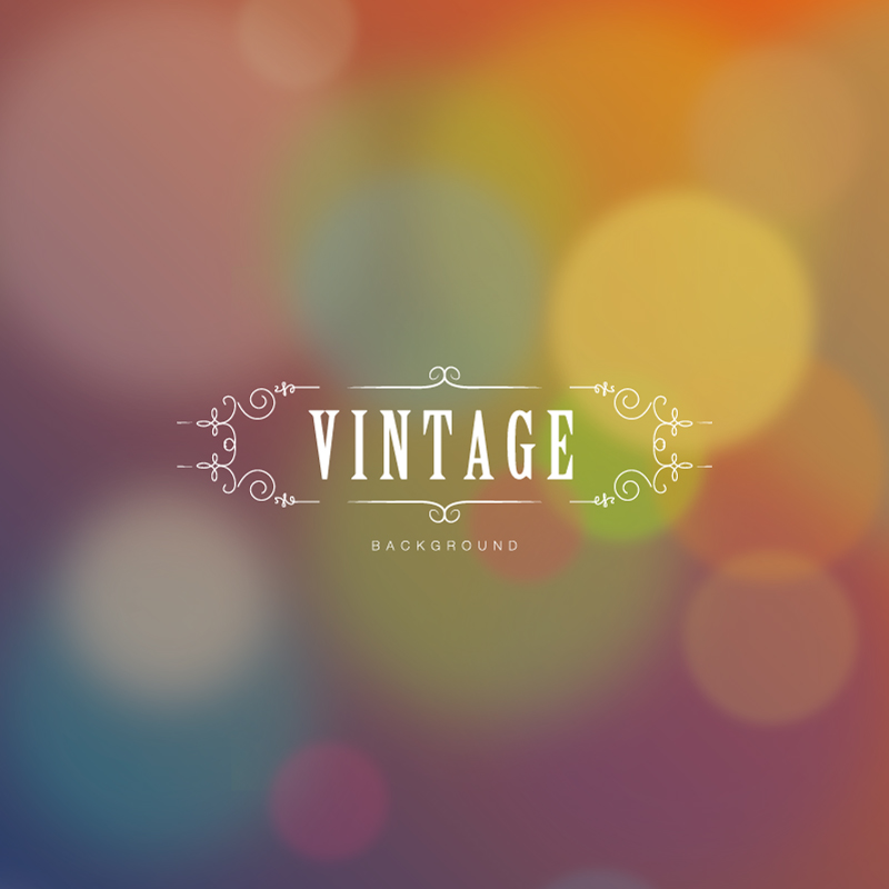 Halo Vintage Background Vector