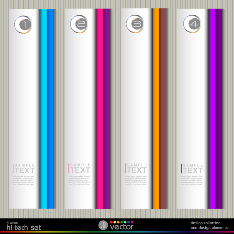 Hi-Tech Design Text Vector
