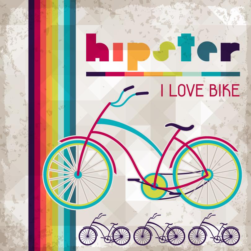I Love Bike Hipster