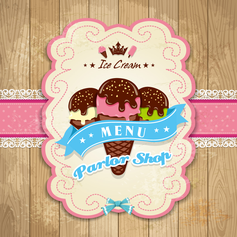 Ice Cream Parlor Shop Vector