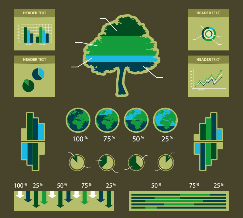 Infographic Environmental Statistics Tree