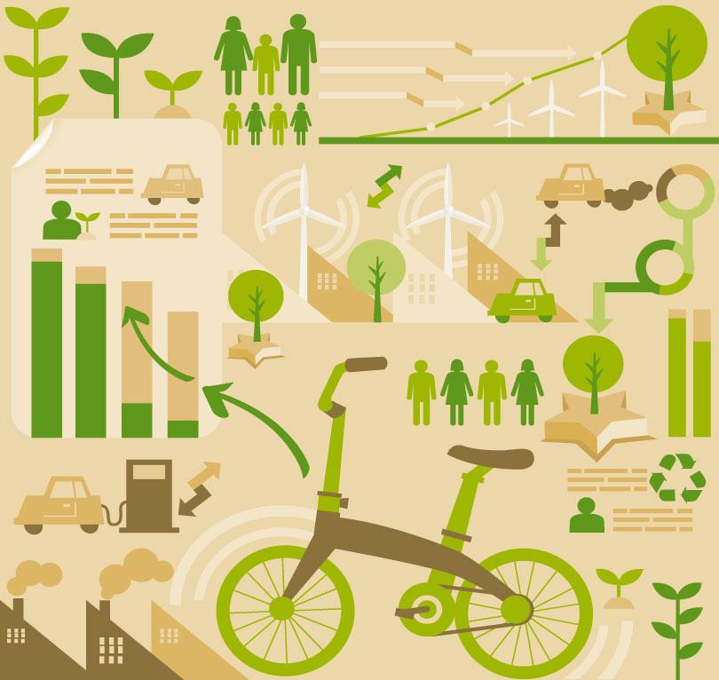 Infographics Environmental Statistics