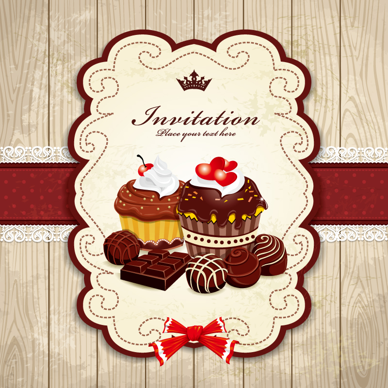 Invitation Menu Vector