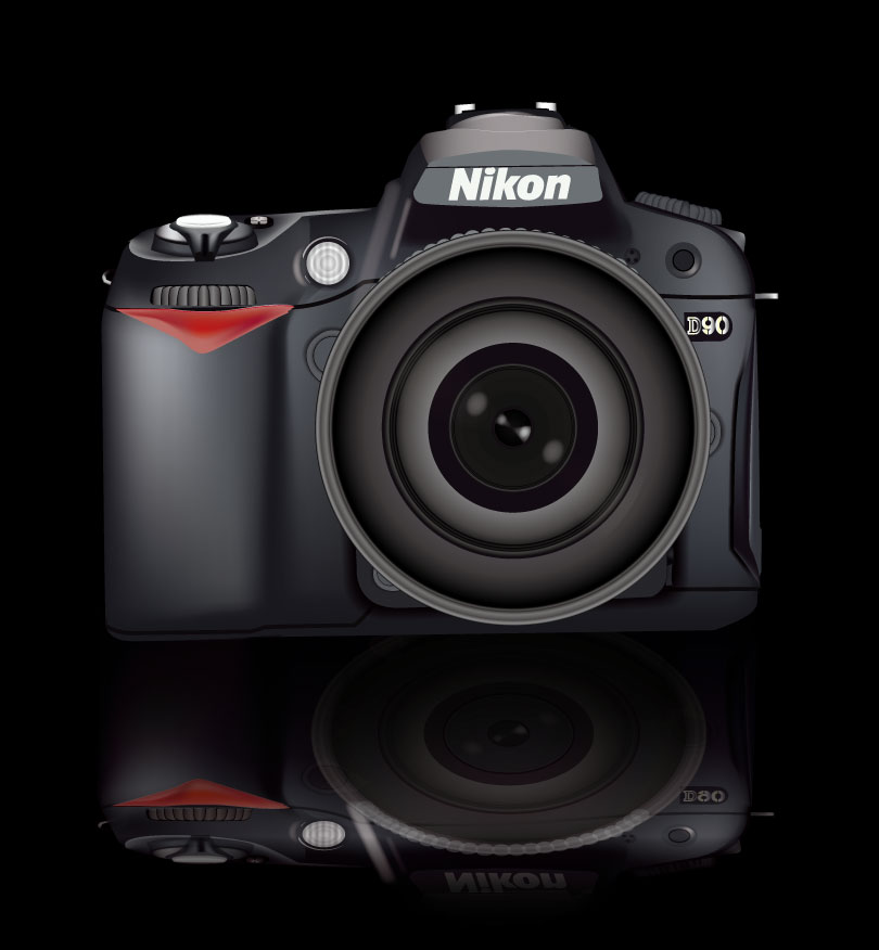 Nikon D90 Illustrator Vector