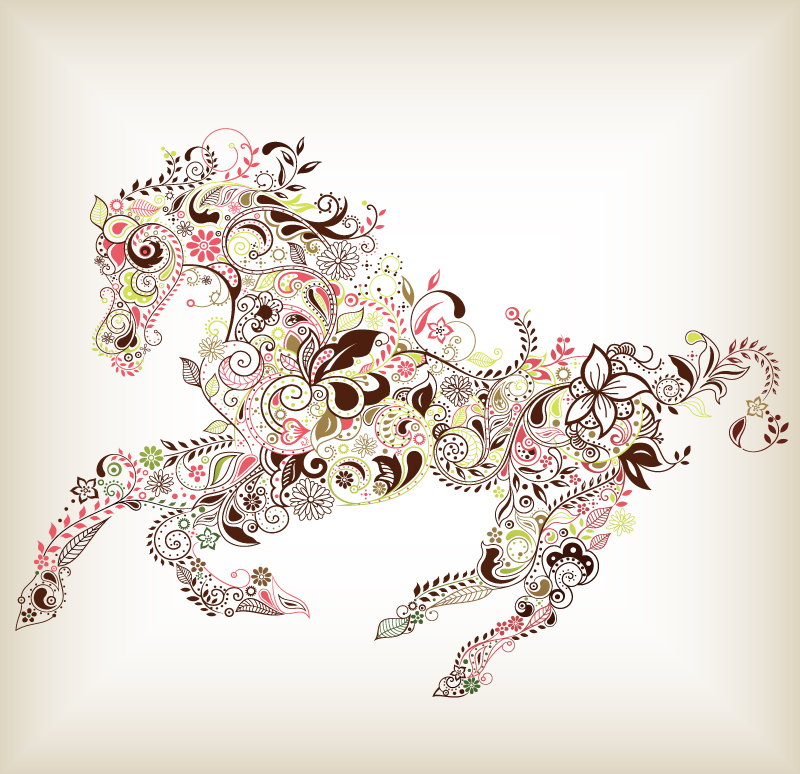 Pegasus Pattern Vector