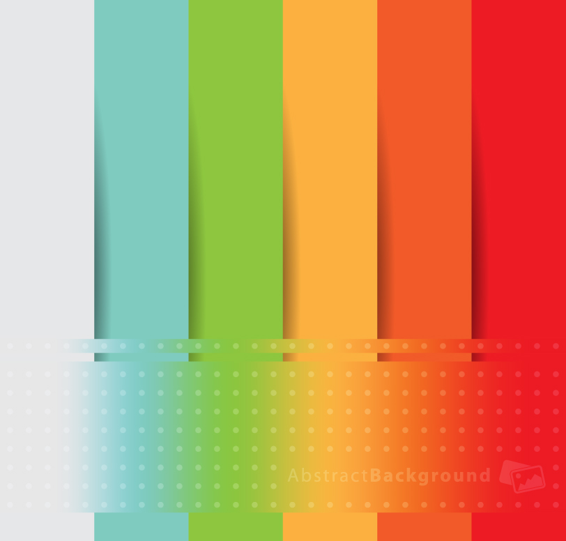 Rainbow Striped Abstract Background Vector