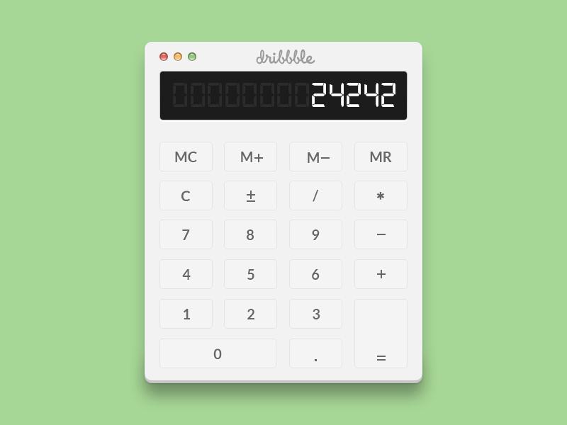 Simple Calculator PSD