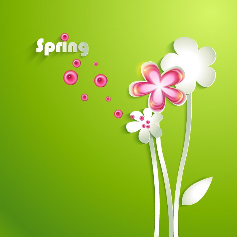 Spring Paper cut Flowers