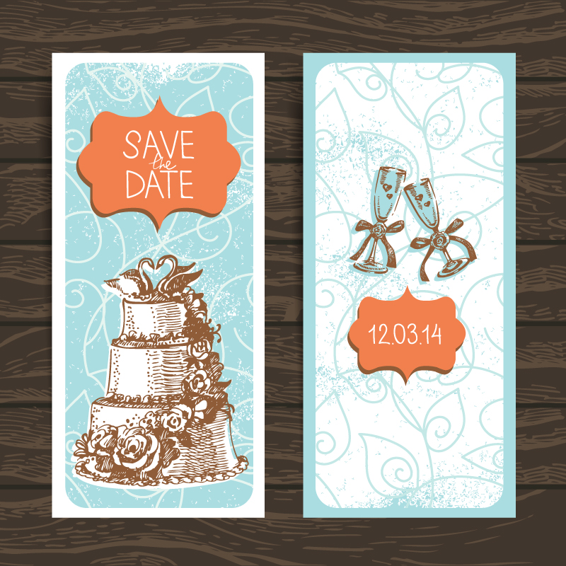 Wedding Invitation Card Design Vector