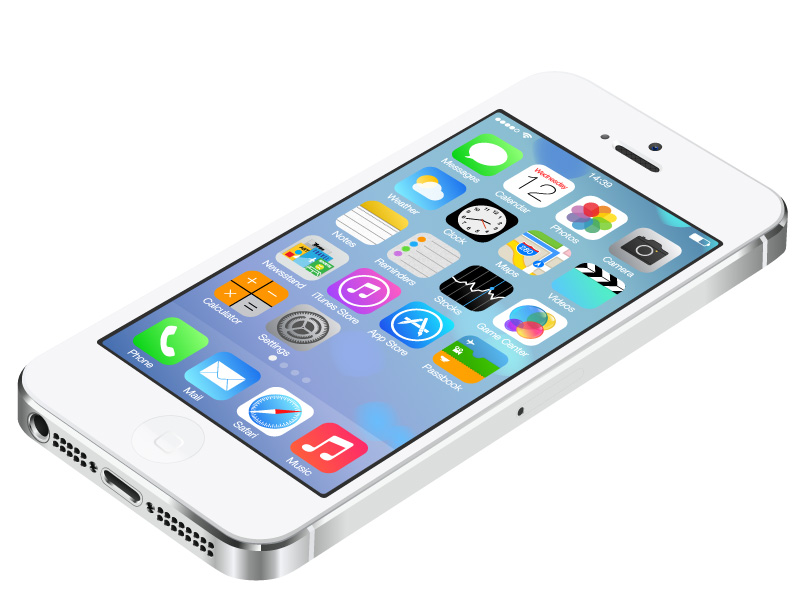 White iPhone 5 Vector