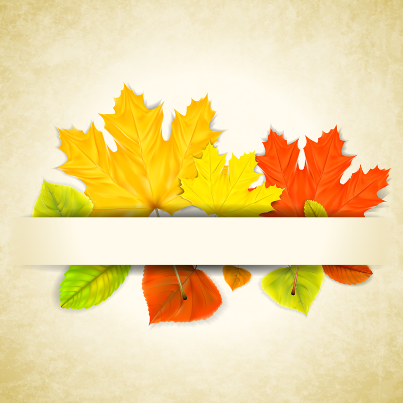 Autumn Maple Leaves Bookmarks Vector