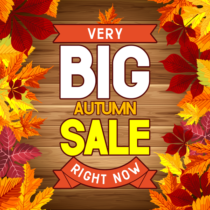 Autumn Promotional Posters Vector