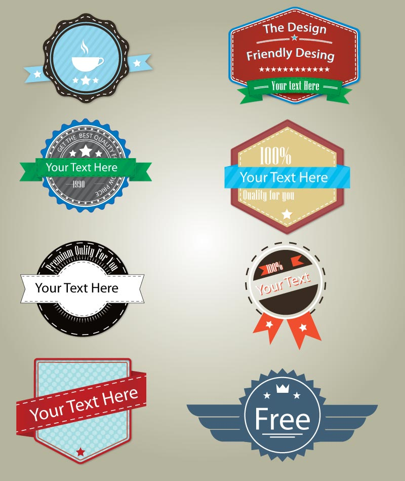 Badge Labels Vector