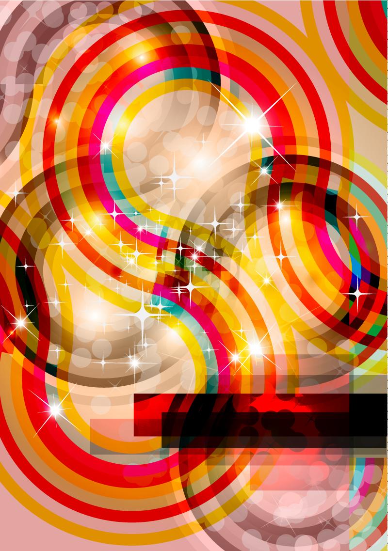 Brilliant Circle Background Vector