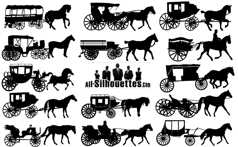 Carriage Silhouette Vector