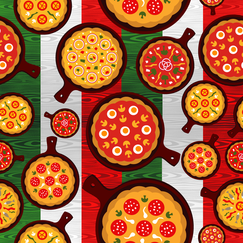 Cartoon Delicious Pizza Vector