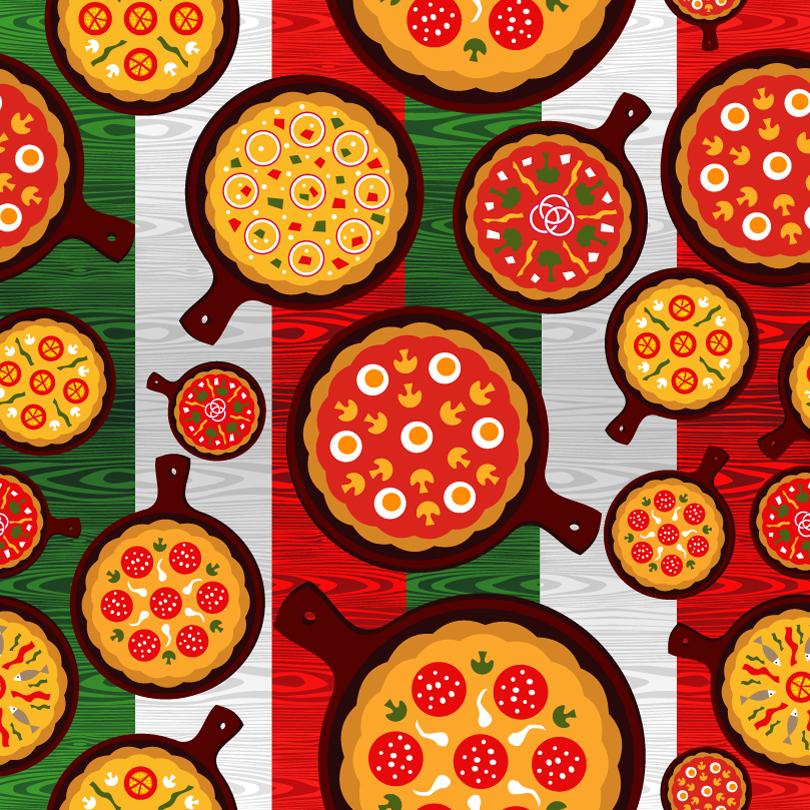 Cartoon Delicious Pizza Vector