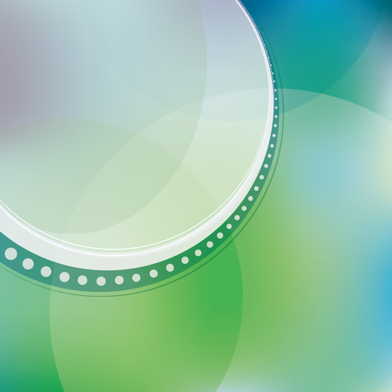 Circle Abstract Green Background Vector