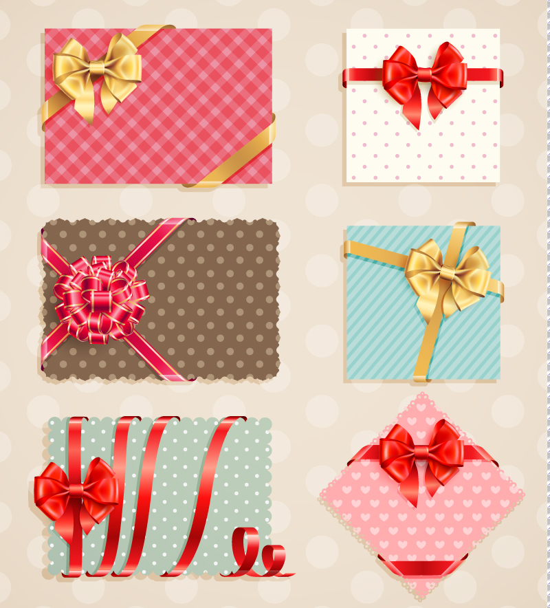 Decorative Bow Card Vector