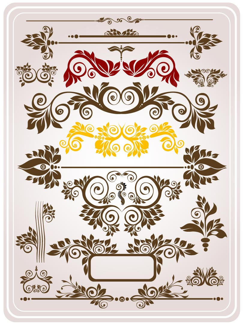 European Pattern Decorative Border Vector