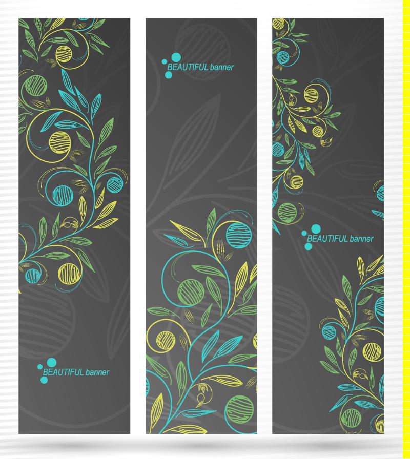 Floral Background Banner Vector