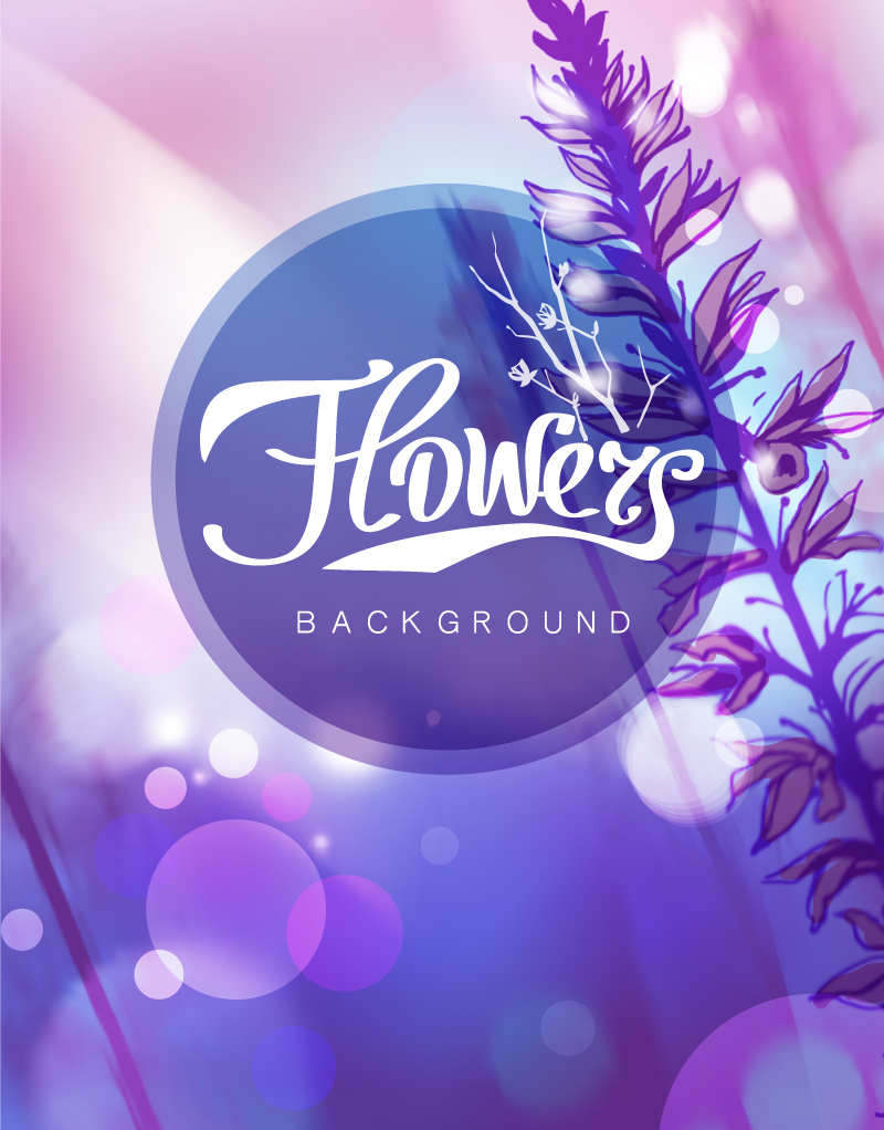 Flowers Halo Background Vector