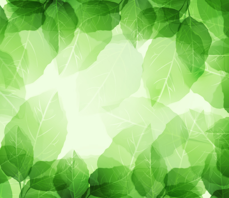 Fresh Dream Foliage Background Vector