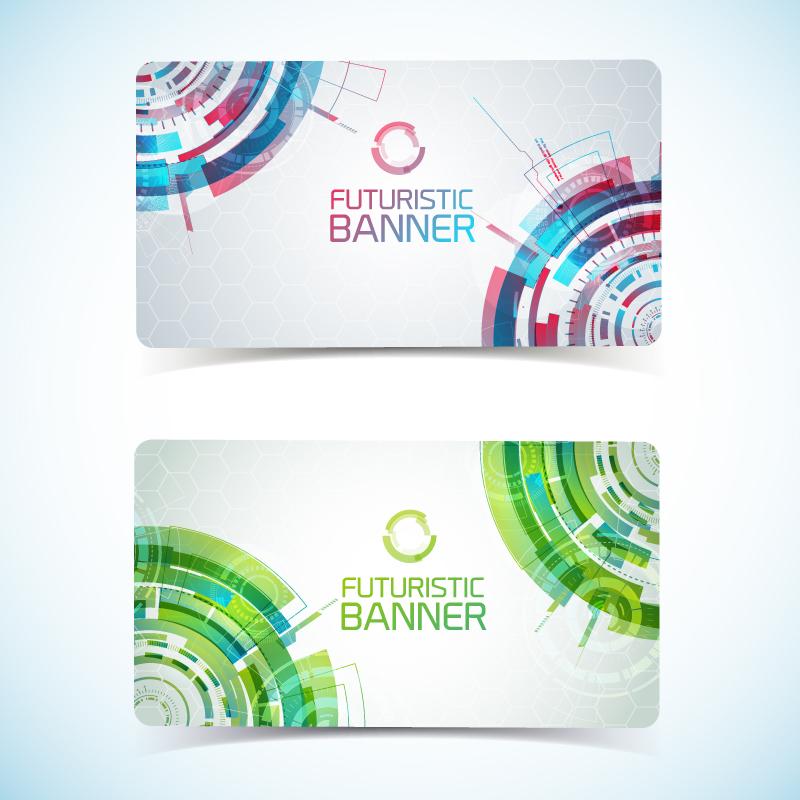 Futuristic Banner Card Vector
