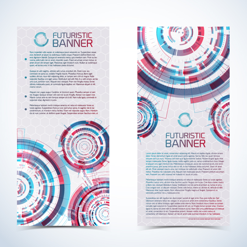 Futuristic Banner Text Vector