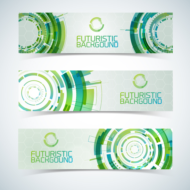 Green Futuristic Background Vector