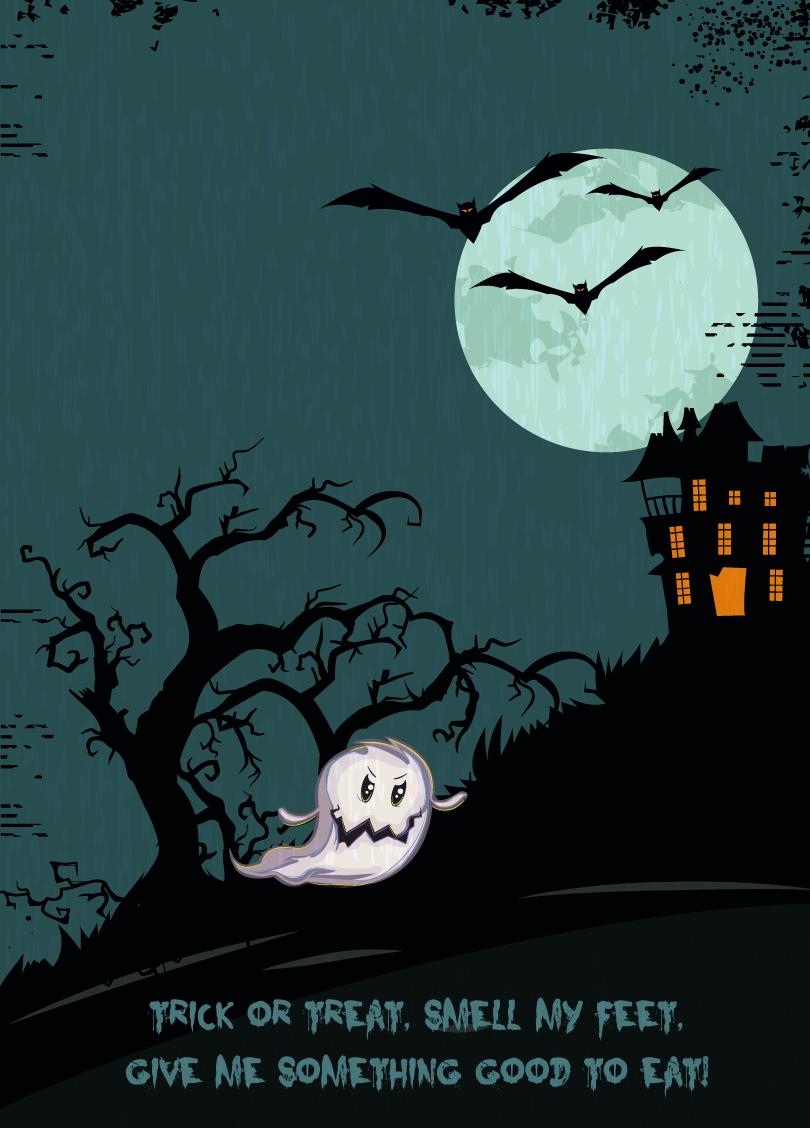 Halloween Night Illustration Vector