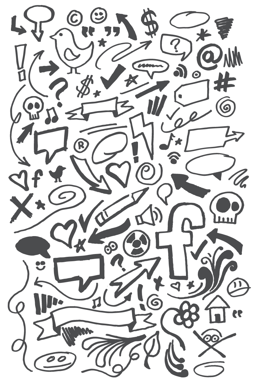 Hand Drawn Page Doodles Vector