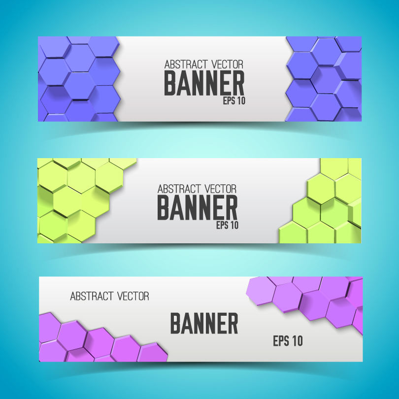 Honeycomb Background Banner Vector