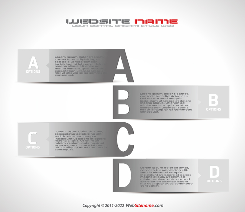 Infogrpahics Alphabet Labels Vector