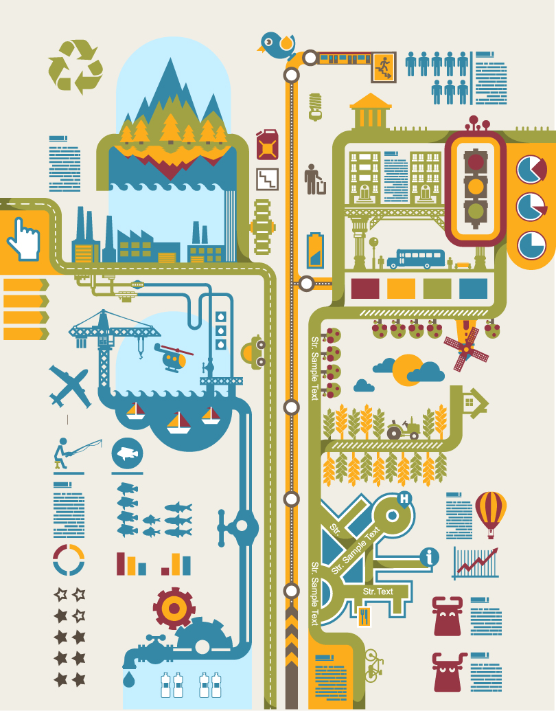 Infogrphics Urban Planning Vector