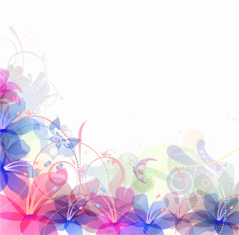 Pastel Flowers Background Vector