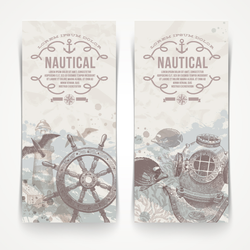 Retro Nautical Banner Vector
