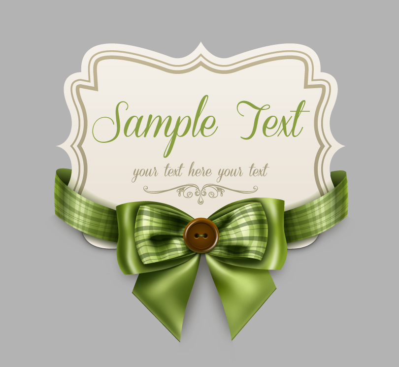 Ribbon Bow Card Vector