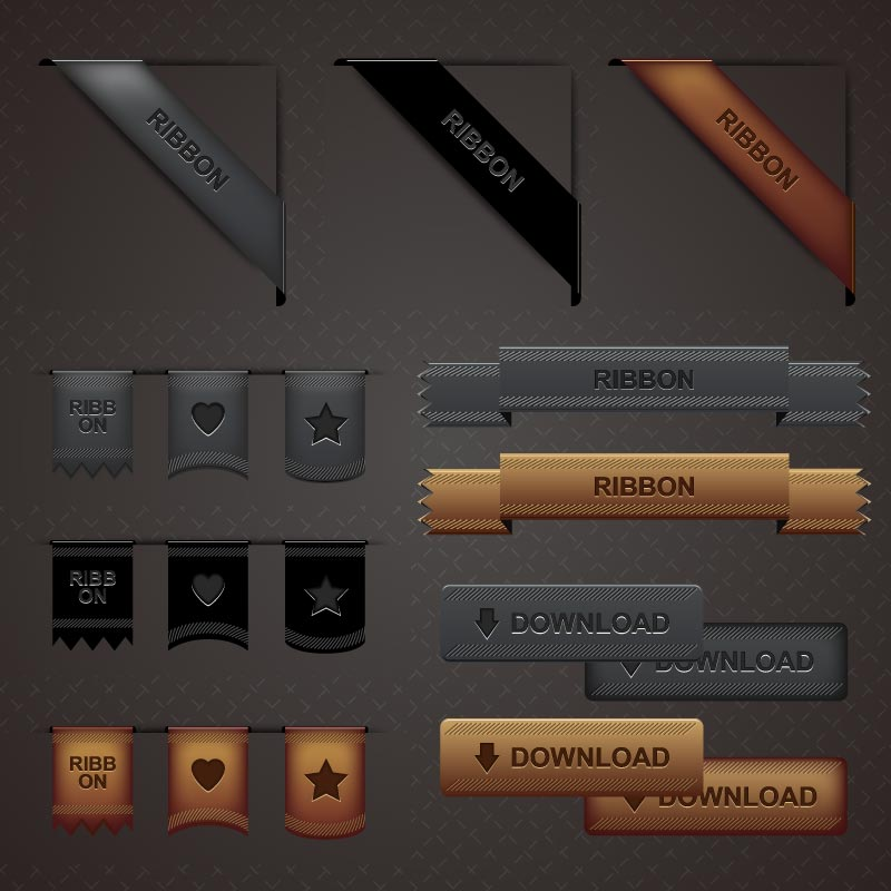 Ribbon Download Vector