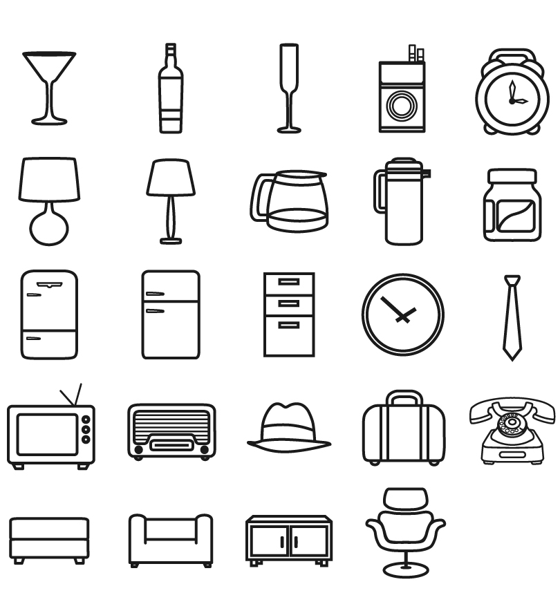 Simple Living Supplies Icon Vector